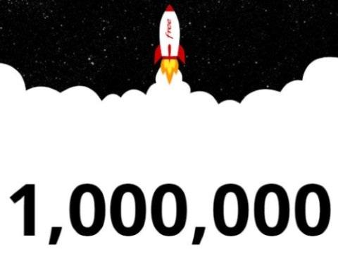 Fibre : Free compte 1 million d'abonnés en France