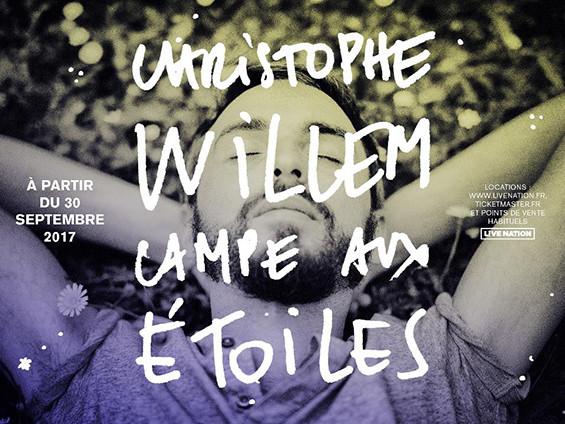 Christophe Willem au Théâtre des Etoiles à Paris à partir du 30 septembre.