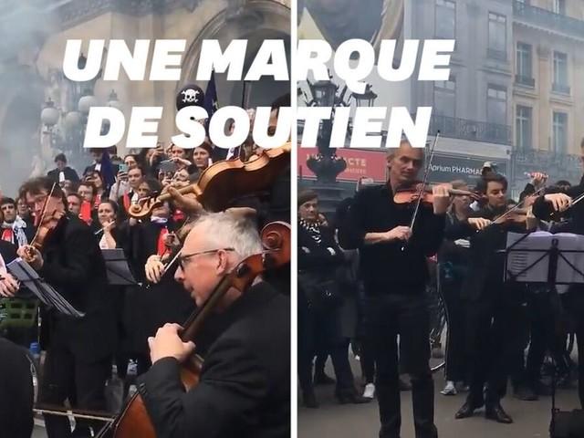 Les musiciens de l'Opéra de Paris jouent pour les avocats