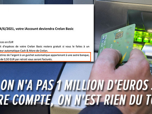 """""""C'est quasiment du vol"""": Laurent est remonté contre sa banque qui lui facture 50 cents dès qu'il utilise un autre distributeur de billets"""