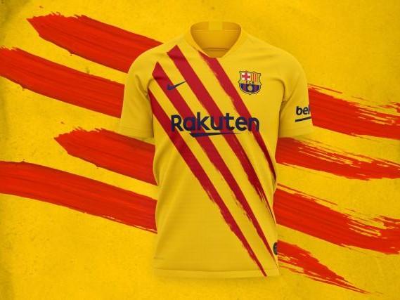 Foot - Le FC Barcelone dévoile son 4e maillot aux couleurs de la Catalogne