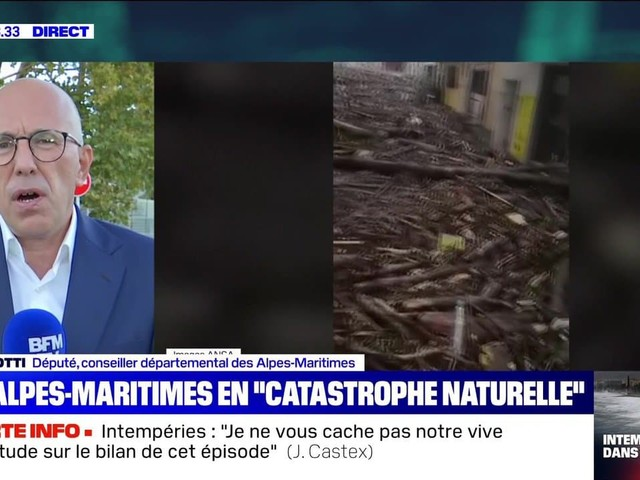"""Les Alpes-Maritimes en """"catastrophe naturelle"""" (2/3) - 03/10"""
