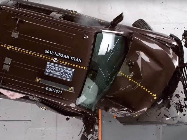 Plusieurs camionnettes échouent au test de collision côté passager