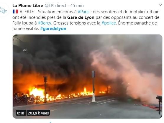 Paris : incendie près de la Gare de Lyon