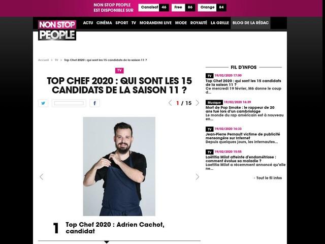 Top Chef 2020 : qui sont les 15 candidats de la saison 11 ?
