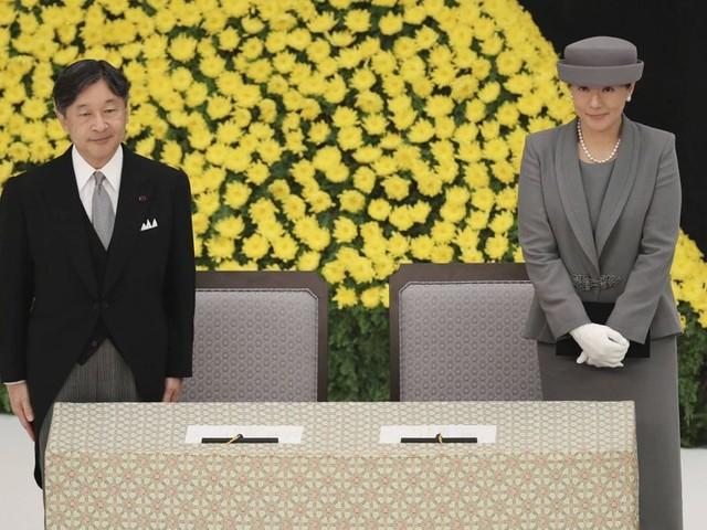 Naruhito et Masako, leur première cérémonie pour la fin de la guerre du Pacifique