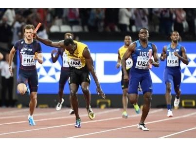 4x100m : les Etats-Unis proches du doublé, Bolt part blessé