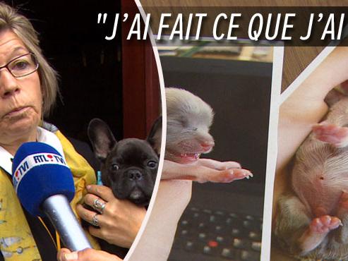"""Lucette tente de sauver un chiot enterré VIVANT dans un pot de fleur: """"Il se battait pour vivre"""""""