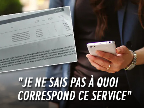Un abonnement WISTER apparaît sur ses factures Proximus: Audrey a déjà perdu 45 euros en deux mois