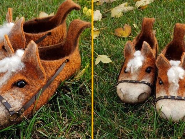 [TOPITRUC] Des chaussons chevaux en laine