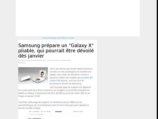 """Samsung prépare un """"Galaxy X"""" pliable, qui pourrait être dévoilé dès janvier"""