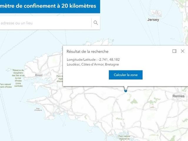 CARTE - Confinement en Bretagne : 20 km autour de chez vous, ça donne quoi ?