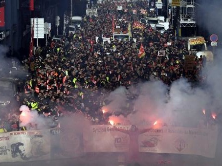 Nouvelle manifestation nationale contre la réforme des retraites en France