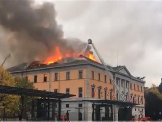 Annecy : important incendie à l'hôtel de ville