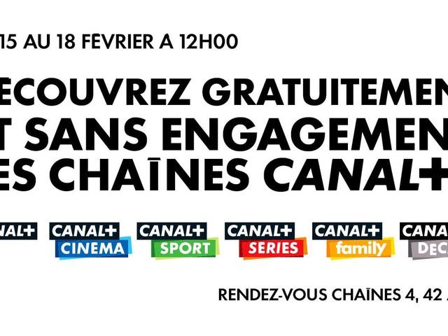 Les chaînes Canal+ sont en clair ce week-end sur Freebox TV !