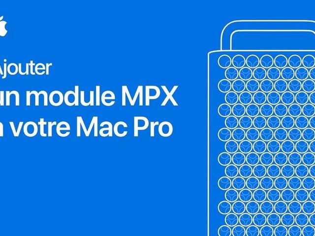 Mac Pro : deux vidéos explicatives sur l'ajout de RAM et de module MPX