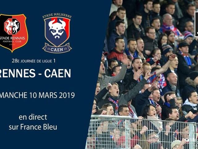 DIRECT - Ligue 1 (J28) : Caen en quête d'exploit et de points à Rennes