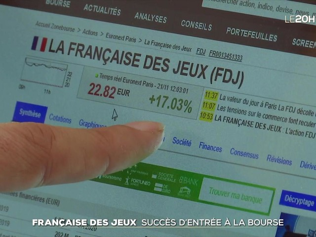 Les premiers pas en Bourse de la Française des Jeux