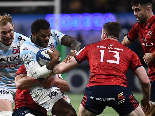 DIRECT. Coupe d'Europe de rugby : regardez le match entre le Racing 92 et Munster