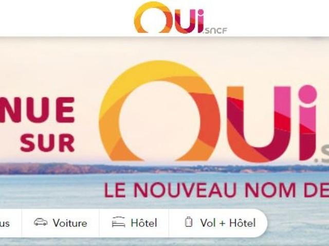 Le site voyages-sncf.com devient OUI.sncf
