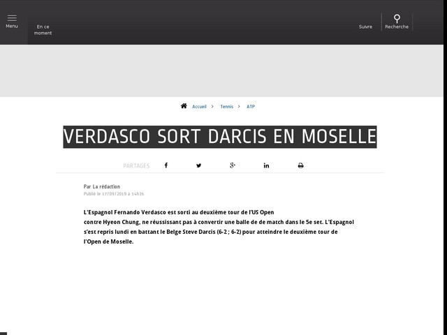 Tennis - ATP - Verdasco sort Darcis en Moselle