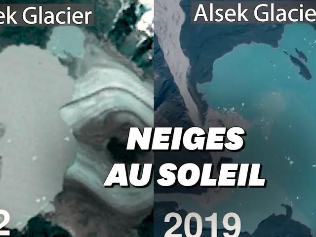 En Alaska, 50 ans de fonte des glaces vue du ciel en accéléré