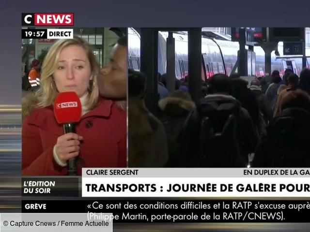 Une journaliste de CNews embrassée de force en plein direct, elle réagit