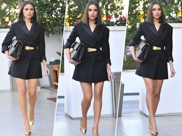 Olivia Culpo : Comment porter le maxi blazer en robe... avec classe !