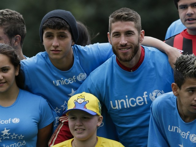 Le beau geste de Sergio Ramos pour l'Unicef