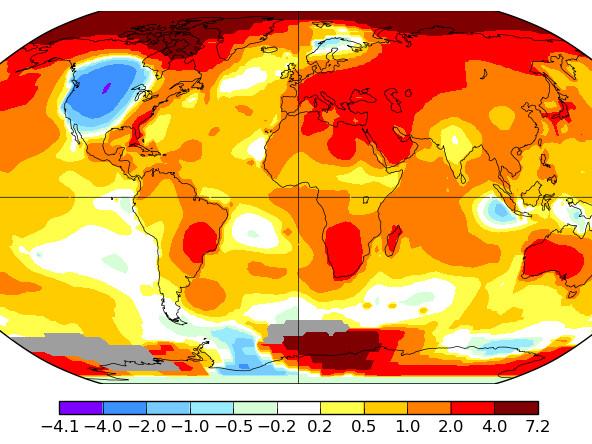 Température mondiale : 2e mois d'octobre le plus chaud, d'après la NASA – Par John Lorck