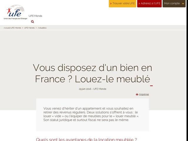 Vous disposez d'un bien en France ? Louez-le meublé