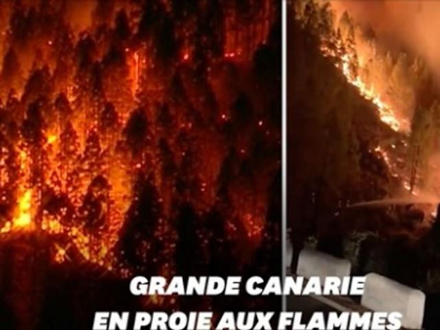 En Espagne, Grande Canarie frappée par un incendie hors de contrôle
