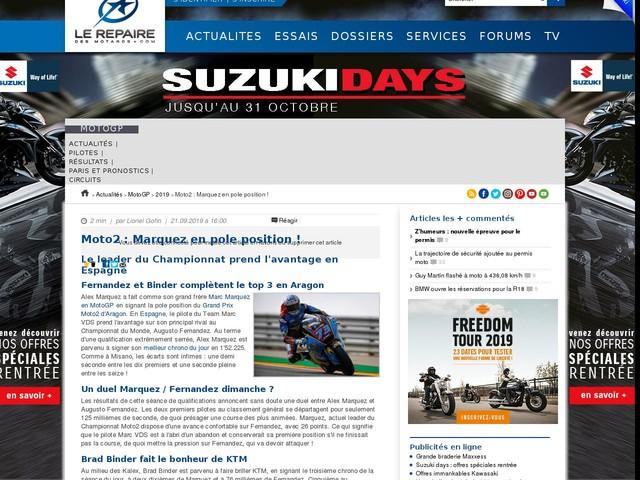 Moto2 : Marquez en pole position !
