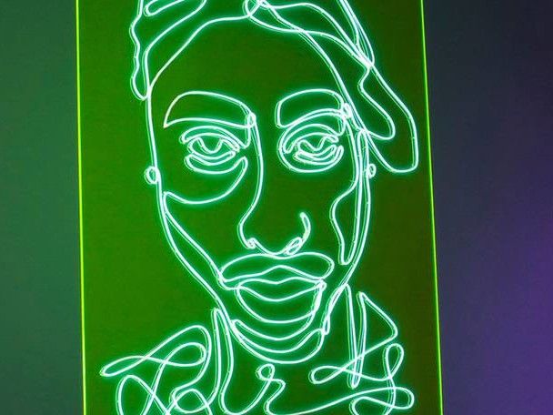 Electrifying Neon Portraits of Rap Artists