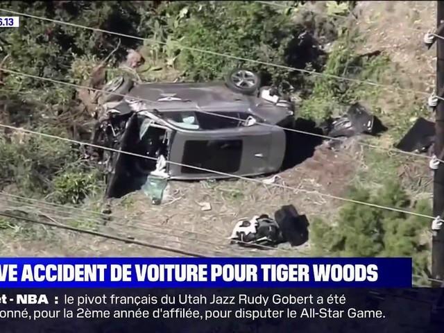 Tiger Woods hospitalisé après un grave accident de la route près de Los Angeles