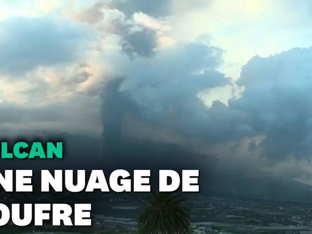 """Volcan aux Canaries: il n'y a """"pas lieu de s'alarmer"""" du nuage de dioxyde de soufre en France"""