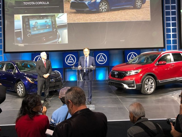 Toyota Corolla et Honda CR-V, véhicules verts de l'année 2020