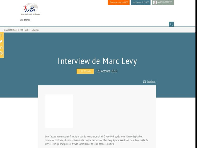 Interview de Marc Levy