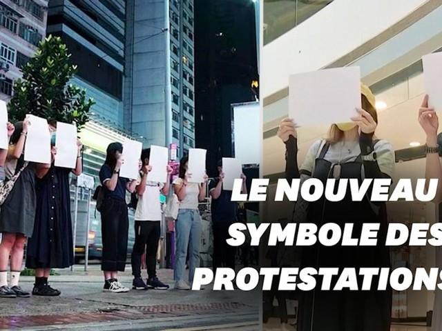 Pourquoi les manifestants de Hong Kong brandissent des pancartes vierges