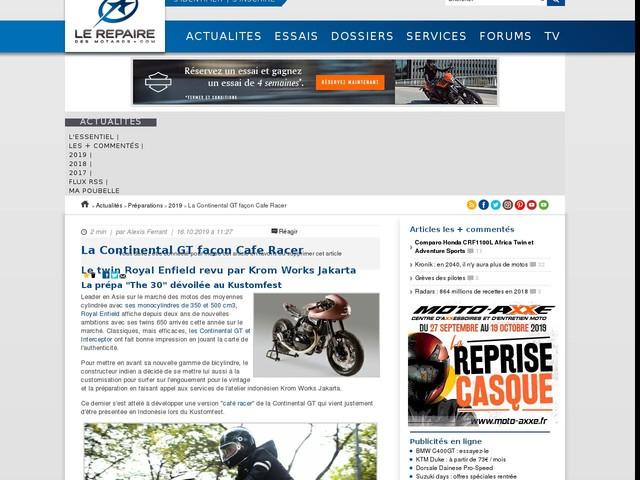 La Continental GT façon Cafe Racer