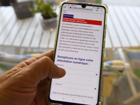 Attestation de déplacement dérogatoire: téléchargez ici le QR Code ou la version papier