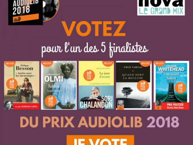 Les finalistes du Prix audiolib (et mon classement)