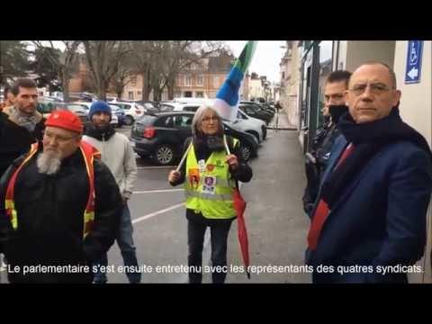 Vidéo. Réforme des retraites : à Louviers, l'intersyndicale déterminée face au député