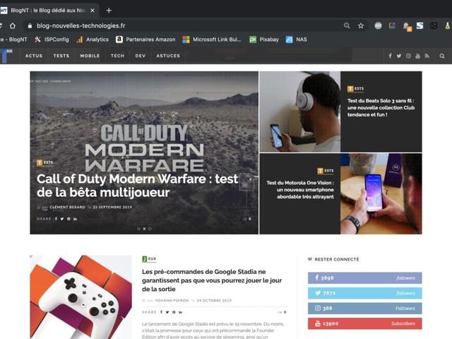 Comment activer le mode sombre sur n'importe quel site Web avec Chrome 78 ?
