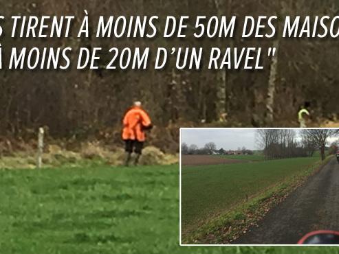 """Vincent s'insurge contre des chasseurs à Éghezée: """"J'ai des plombs dans mon jardin"""""""