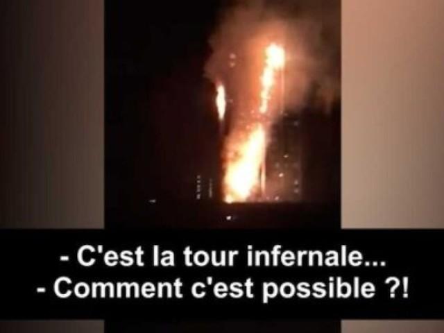 La réaction des pompiers en route pour la Grenfell Tower de Londres fait peur (VIDÉO)