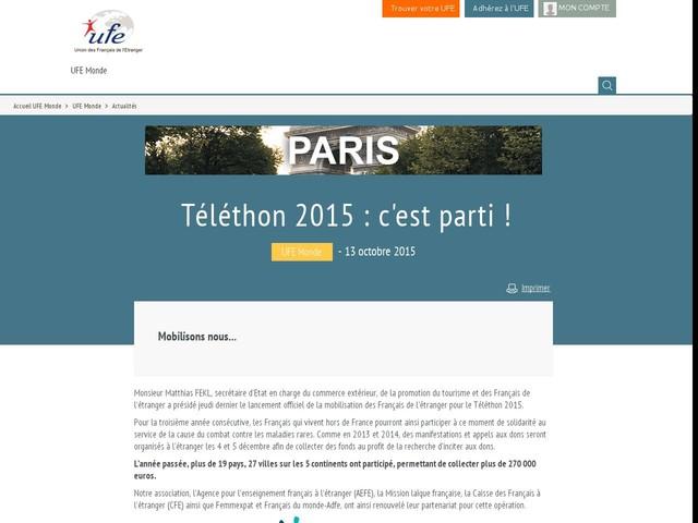 Téléthon 2015 : c'est parti !