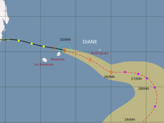 La tempête tropicale modérée Diane continue sa route, à 305 km de nos côtes
