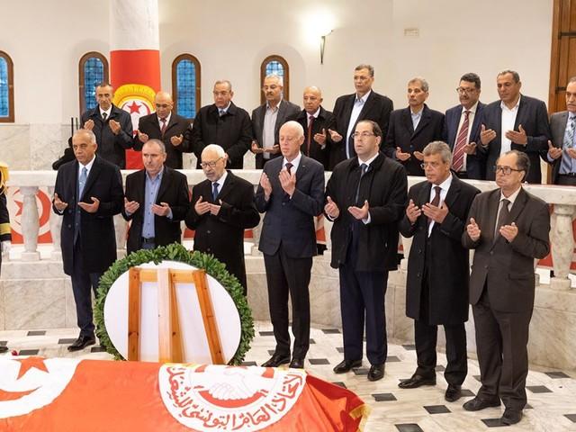 Tunisie: Kaïs Saïed supervise la cérémonie du 67ème anniversaire de l'assassinat de Farhat Hached