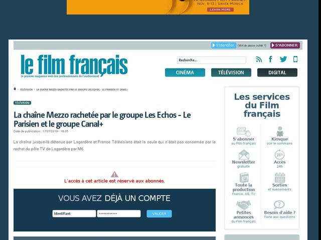 La chaîne Mezzo rachetée par le groupe Les Echos - Le Parisien et le groupe Canal+